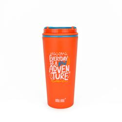 """Термокружка BOOL-BOOL """"Каждый день"""", с надежным клапаном и ручкой, 350 мл, оранжевая"""