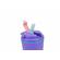 """Термокружка BOOL-BOOL """"Навстречу противоречиям"""",  с встроенной трубочкой и ручкой, 350 мл, фиолетовая"""